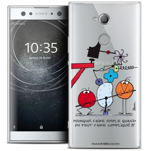 "Carcasa Crystal Gel Extra Fina Sony Xperia XA2 ULTRA (6"") Les Shadoks® Pourquoi faire Simple"