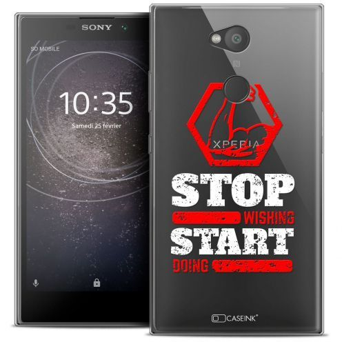 """Carcasa Crystal Gel Extra Fina Sony Xperia L2 (5.5"""") Quote Start Doing"""