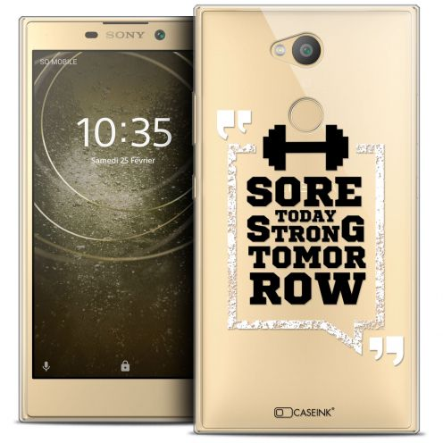 """Carcasa Crystal Gel Extra Fina Sony Xperia L2 (5.5"""") Quote Strong Tomorrow"""