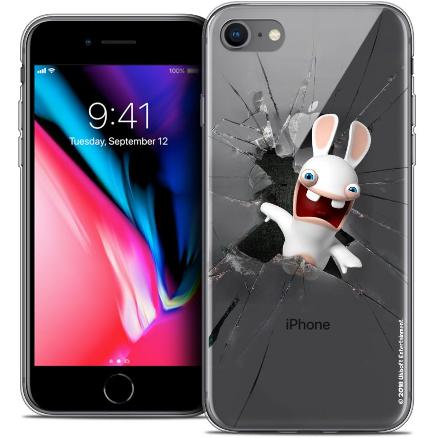 "Carcasa Crystal Gel Apple iPhone 7 (4.7"") Lapins Crétins™ Breaking Glass"