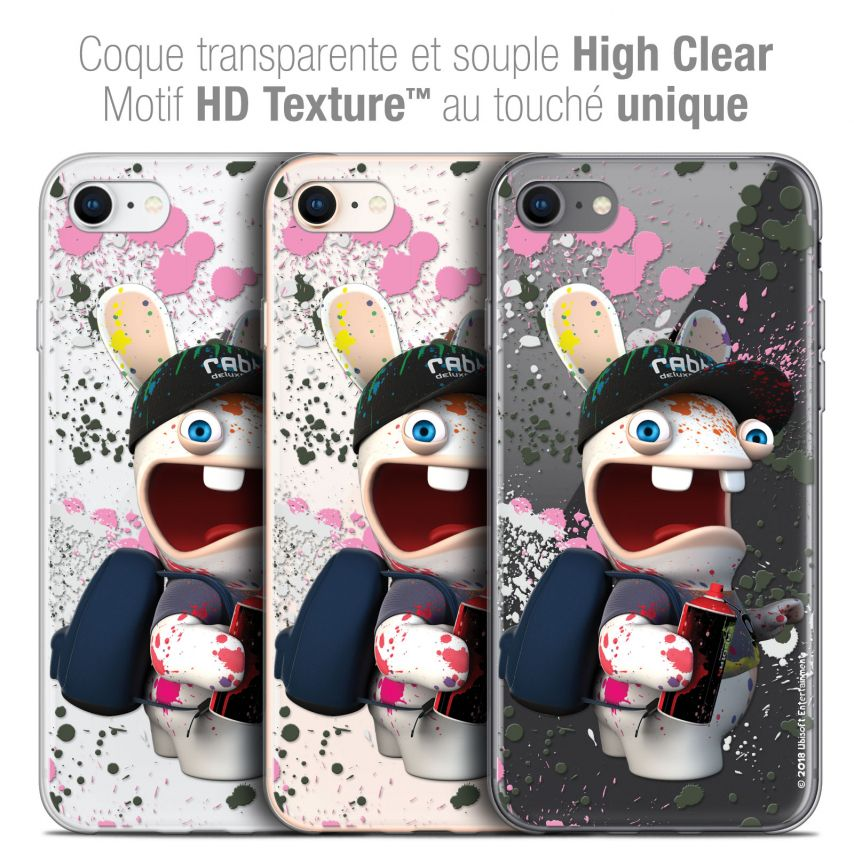 "Carcasa Crystal Gel Apple iPhone 7 (4.7"") Lapins Crétins™ Painter"