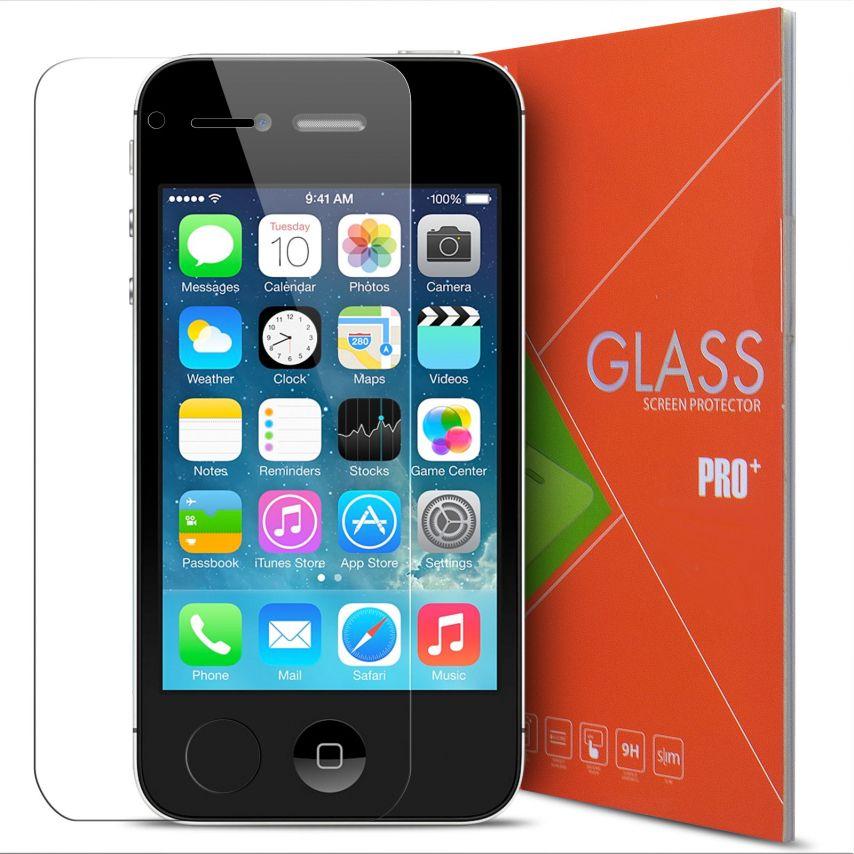 Protección de pantalla de vidrio templado Apple iPhone 4/4S Glass Pro+ 9H Ultra HD 0.33mm