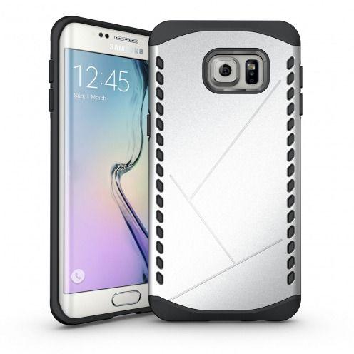 Funda Anti-Golpes Galaxy S6 Edge+ / Plus Slim Shield Defender - Plata