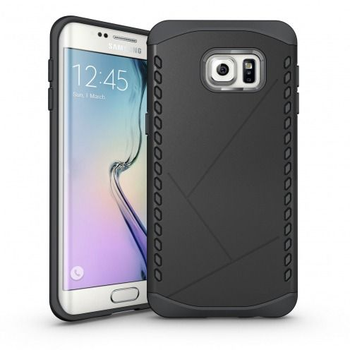 Funda Anti-Golpes Galaxy S6 Edge+ / Plus Slim Shield Defender - Negro