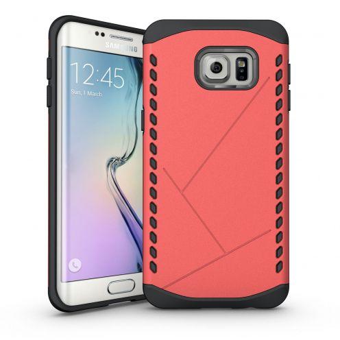 Funda Anti-Golpes Galaxy S6 Edge+ / Plus Slim Shield Defender - Rojo