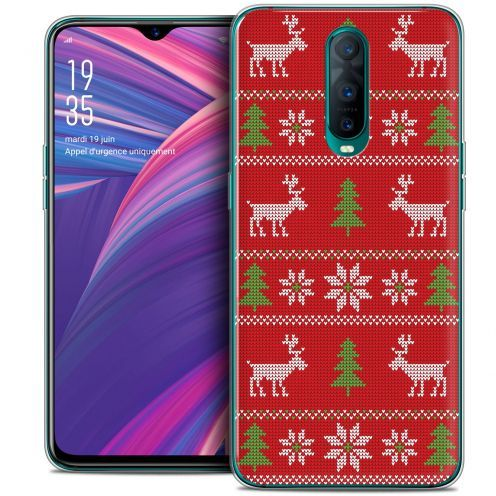 "Carcasa Crystal Gel Extra Fina Oppo RX17 Pro (6.4"") Noël 2017 Couture Rouge"