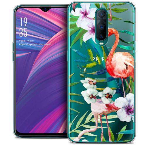 "Carcasa Crystal Gel Extra Fina Oppo RX17 Pro (6.4"") Watercolor Tropical Flamingo"