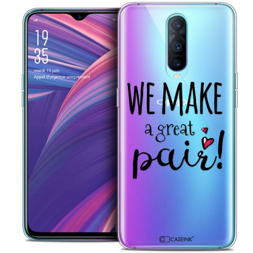 "Carcasa Crystal Gel Extra Fina Oppo RX17 Pro (6.4"") Love We Make Great Pair"