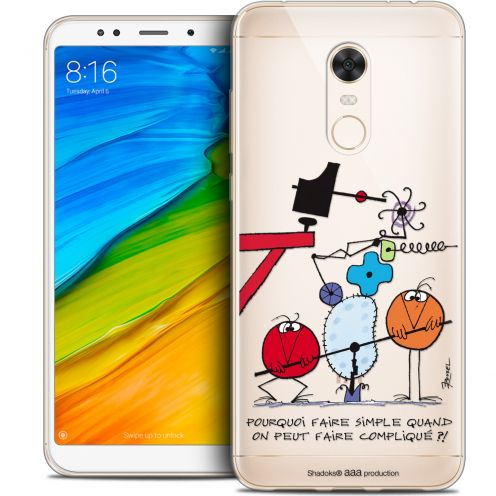"Carcasa Crystal Gel Extra Fina Xiaomi Redmi 5 Plus (6"") Les Shadoks® Pourquoi faire Simple"