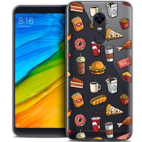 "Carcasa Crystal Gel Extra Fina Xiaomi Redmi 5 Plus (6"") Foodie Fast Food"