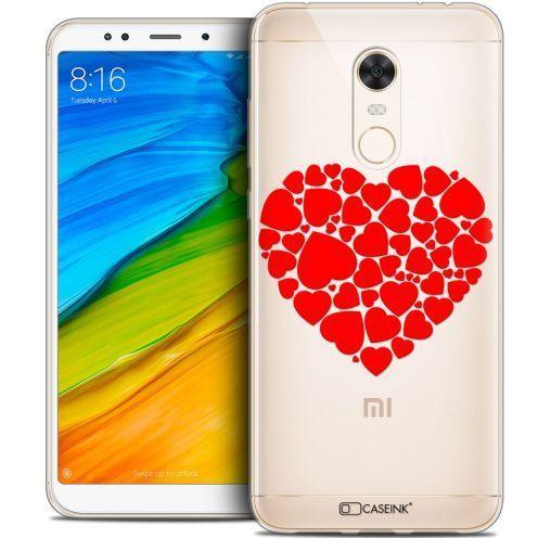 "Carcasa Crystal Gel Extra Fina Xiaomi Redmi 5 Plus (6"") Love Coeur des Coeurs"