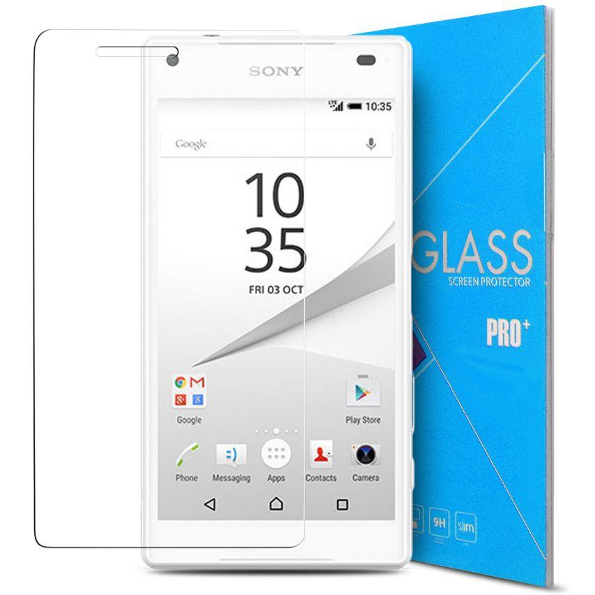 Protección de pantalla de vidrio templado Sony Xperia Z5 Compact Glass Pro+ 9H Ultra HD 0.33 mm