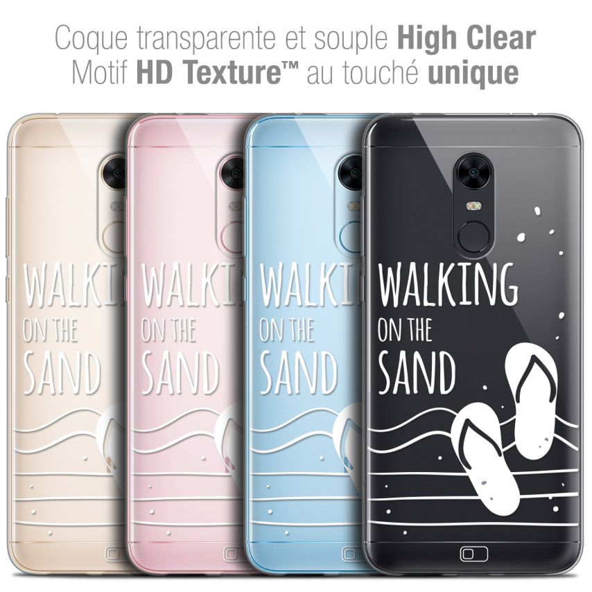"Carcasa Crystal Gel Extra Fina Xiaomi Redmi 5 Plus (6"") Summer Walking on the Sand"