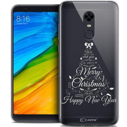 "Carcasa Crystal Gel Extra Fina Xiaomi Redmi 5 Plus (6"") Noël 2017 Calligraphie"