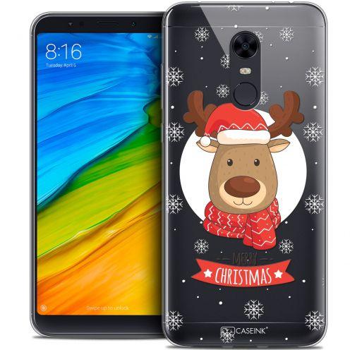 """Carcasa Crystal Gel Extra Fina Xiaomi Redmi 5 Plus (6"""") Noël 2017 Cerf à Echarpe"""