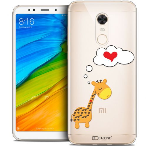 "Carcasa Crystal Gel Extra Fina Xiaomi Redmi 5 Plus (6"") Love Girafe Amoureuse"