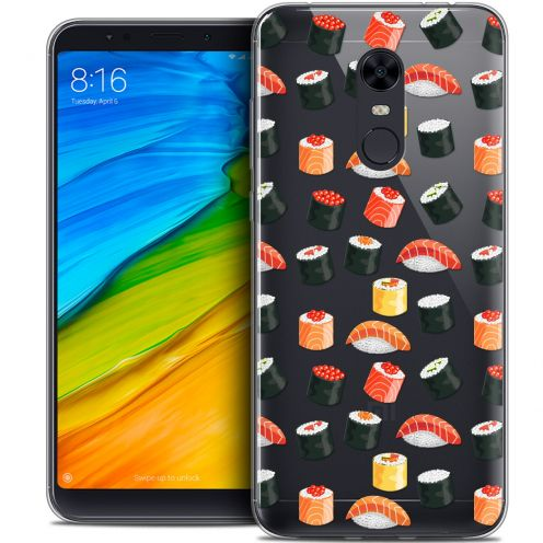"Carcasa Crystal Gel Extra Fina Xiaomi Redmi 5 Plus (6"") Foodie Sushi"