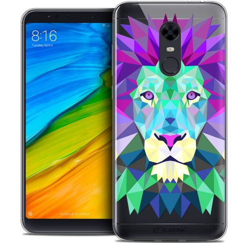"Carcasa Crystal Gel Extra Fina Xiaomi Redmi 5 Plus (6"") Polygon Animals León"