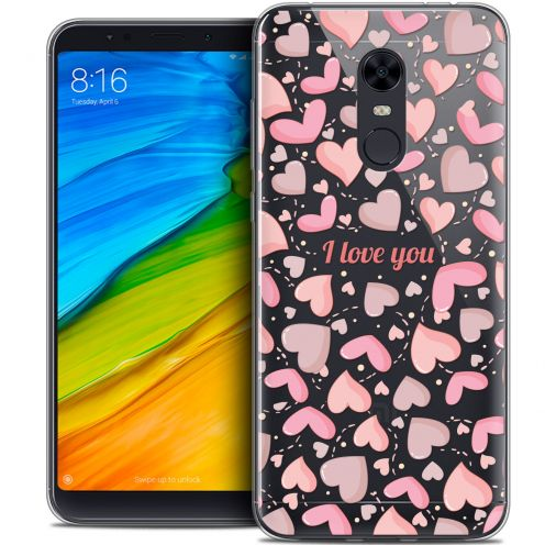 "Carcasa Crystal Gel Extra Fina Xiaomi Redmi 5 Plus (6"") Love I Love You"