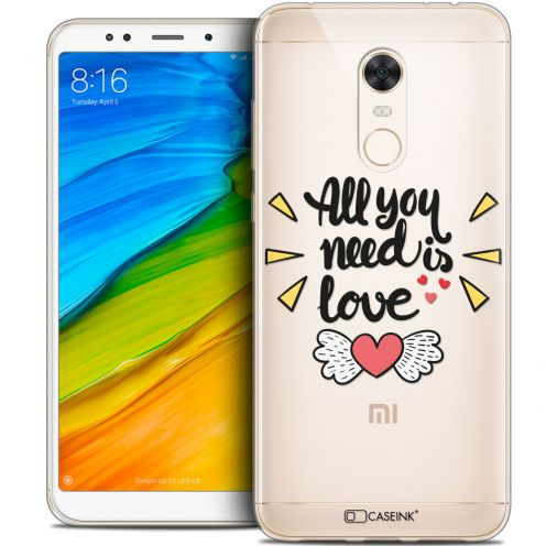 "Carcasa Crystal Gel Extra Fina Xiaomi Redmi 5 Plus (6"") Love All U Need Is"
