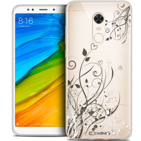 "Carcasa Crystal Gel Extra Fina Xiaomi Redmi 5 Plus (6"") Love Hearts Flowers"