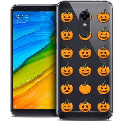 "Carcasa Crystal Gel Extra Fina Xiaomi Redmi 5 Plus (6"") Halloween Smiley Citrouille"