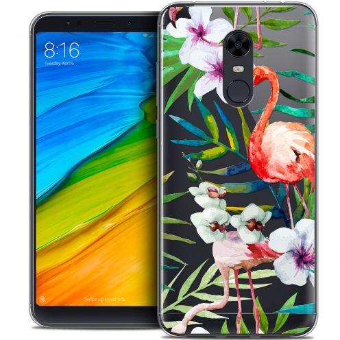 "Carcasa Crystal Gel Extra Fina Xiaomi Redmi 5 Plus (6"") Watercolor Tropical Flamingo"
