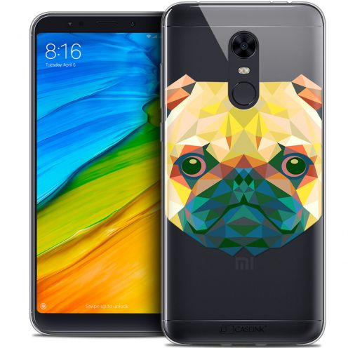 "Carcasa Crystal Gel Extra Fina Xiaomi Redmi 5 Plus (6"") Polygon Animals Perro"