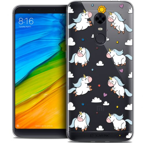"Carcasa Crystal Gel Extra Fina Xiaomi Redmi 5 Plus (6"") Fantasia Licorne In the Sky"