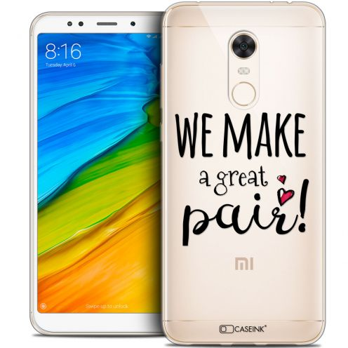 "Carcasa Crystal Gel Extra Fina Xiaomi Redmi 5 Plus (6"") Love We Make Great Pair"