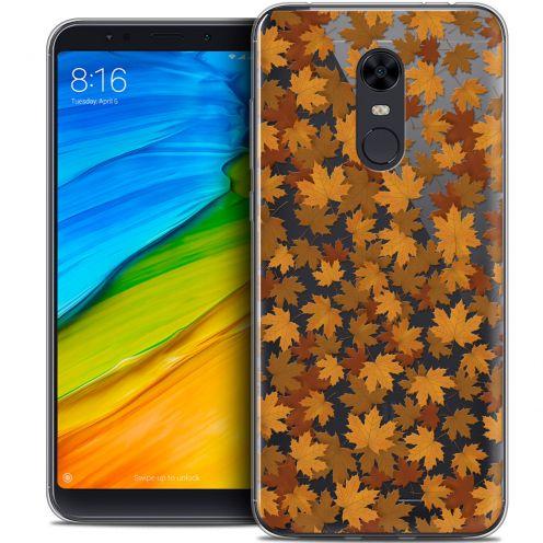 "Carcasa Crystal Gel Extra Fina Xiaomi Redmi 5 Plus (6"") Autumn 16 Feuilles"