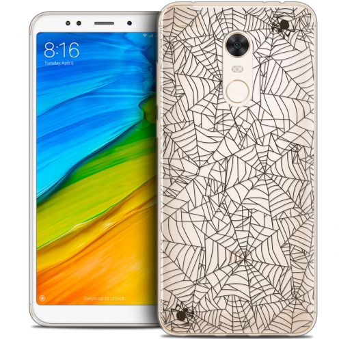 "Carcasa Crystal Gel Extra Fina Xiaomi Redmi 5 Plus (6"") Halloween Spooky Spider"