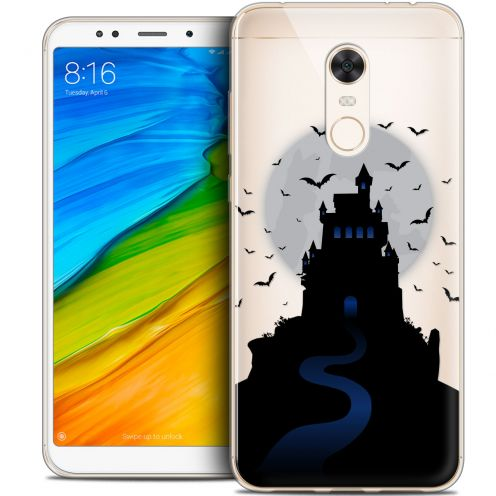 "Carcasa Crystal Gel Extra Fina Xiaomi Redmi 5 Plus (6"") Halloween Castle Nightmare"