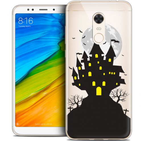 "Carcasa Crystal Gel Extra Fina Xiaomi Redmi 5 Plus (6"") Halloween Castle Scream"