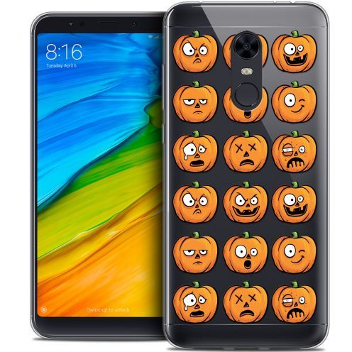 "Carcasa Crystal Gel Extra Fina Xiaomi Redmi 5 Plus (6"") Halloween Cartoon Citrouille"