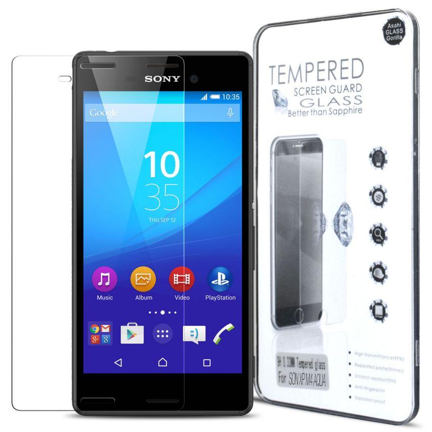 Protección de pantalla de vidrio templado Sony Xperia M4 Aqua Glass Pro+ 9H Ultra HD 0.33mm