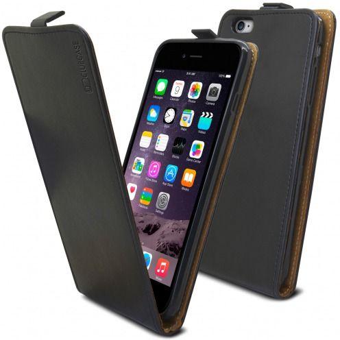 Funda Italia Flippara Apple iPhone 6 Plus / 6s Plus Cuero AuténticoNegro