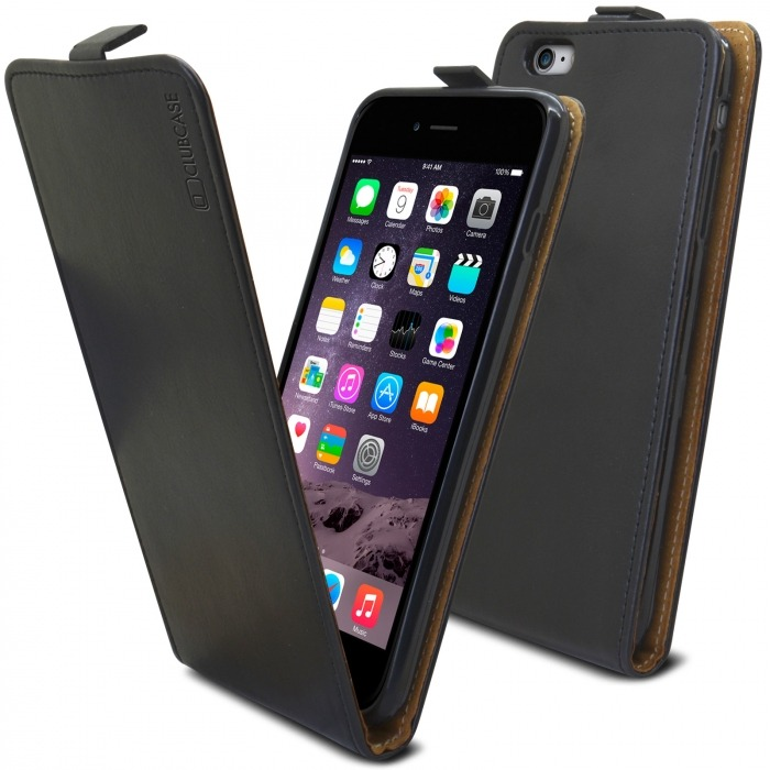 509370e9c4f Funda Italia Flip para Apple iPhone 6 Plus / 6s Plus Cuero Auténtico Negro
