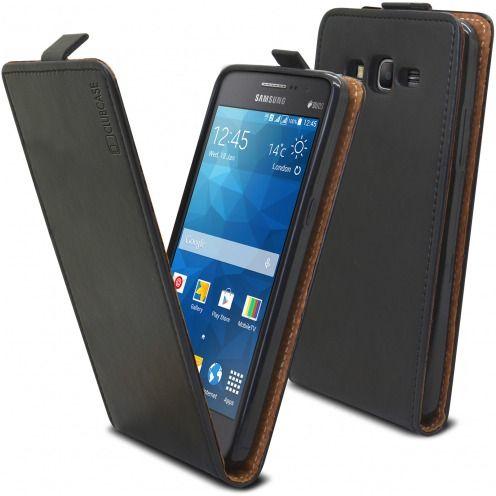 Funda Italia Flippara Samsung Galaxy Grand Prime Cuero AuténticoNegro