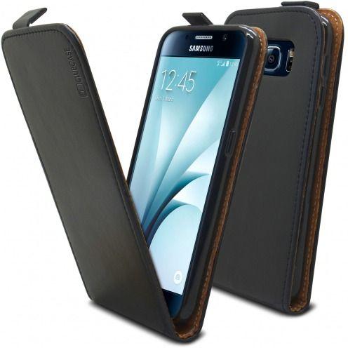 Funda Italia Flippara Samsung Galaxy S6 Cuero AuténticoNegro