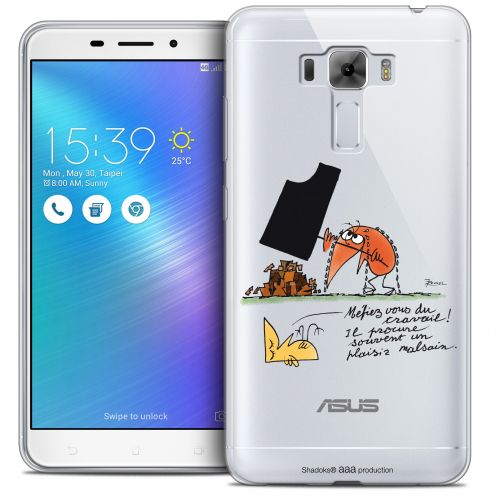 "Carcasa Crystal Gel Extra Fina Asus Zenfone 3 Laser ZC551KL (5.5"") Les Shadoks® Le Travail"