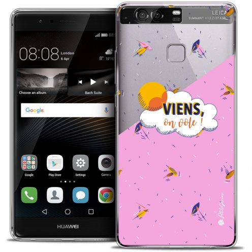 Carcasa Crystal Rigide Extra Fina Huawei P9 Petits Grains® VIENS, On Vole !
