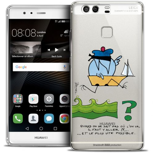 Carcasa Crystal Rigide Extra Fina Huawei P9 Les Shadoks® Il Faut Y Aller !!
