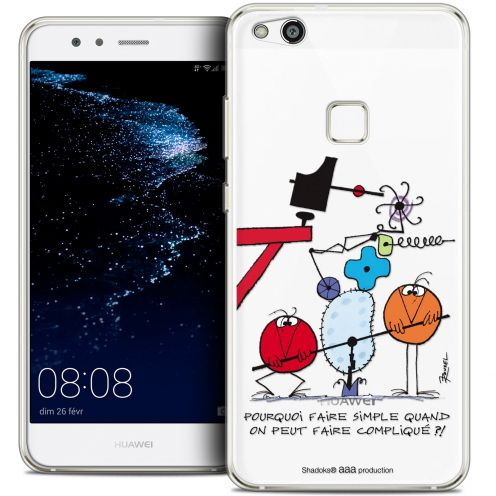 """Carcasa Crystal Gel Extra Fina Huawei P10 LITE (5.2"""") Les Shadoks® Pourquoi faire Simple"""
