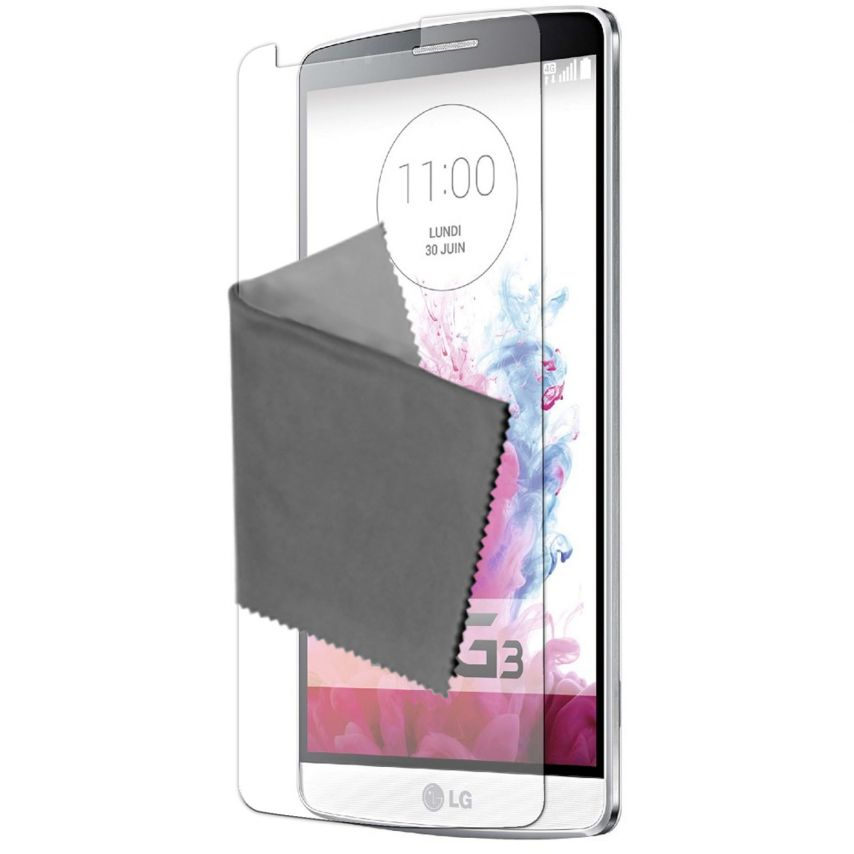 Clubcase ® protección anti películas huellas dactilares LG G3 juego de 2