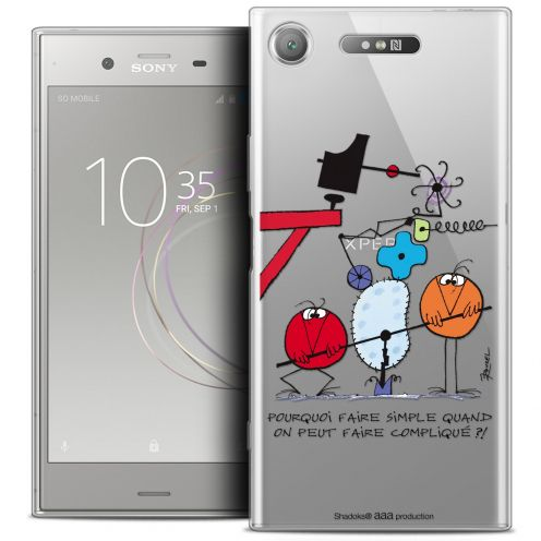 "Carcasa Crystal Gel Extra Fina Sony Xperia XZ1 (5.2"") Les Shadoks® Pourquoi faire Simple"