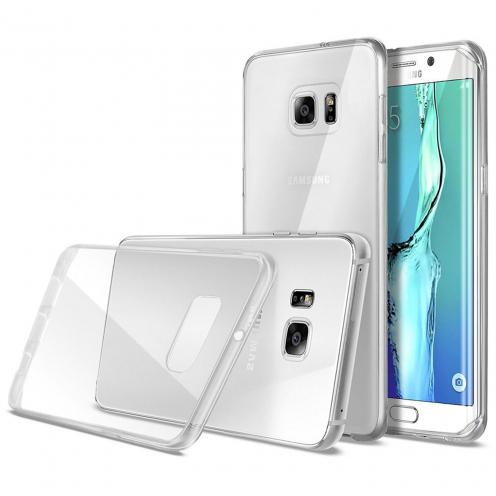 Carcasa Ultra Fina 0.5 mm Flexible Crystal Clear View para Samsung Galaxy S6 Edge+ / Plus