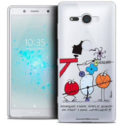 """Carcasa Crystal Gel Extra Fina Sony Xperia XZ2 Compact (5.0"""") Les Shadoks® Pourquoi faire Simple"""