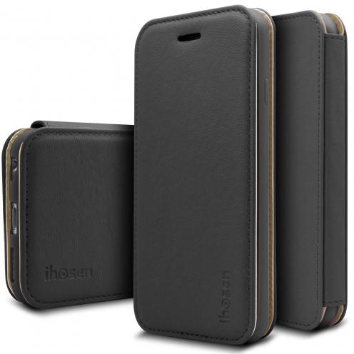 Funda Apple iPhone 6/6s iHosen® Shine Magnet Folio - Negro
