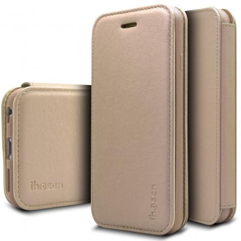 Funda Apple iPhone 6/6s iHosen® Shine Magnet Folio - Oro